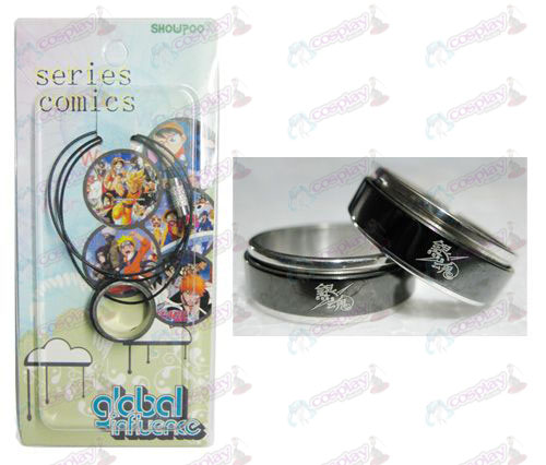 Gin Tama Accessories Black Steel Ring Necklace transporter - Rope