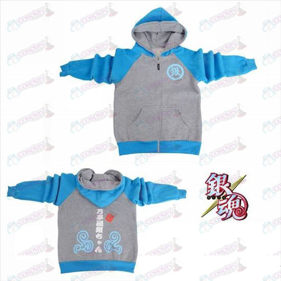 Gin Tama Accessories logo fork sleeve zipper hoodie sweater