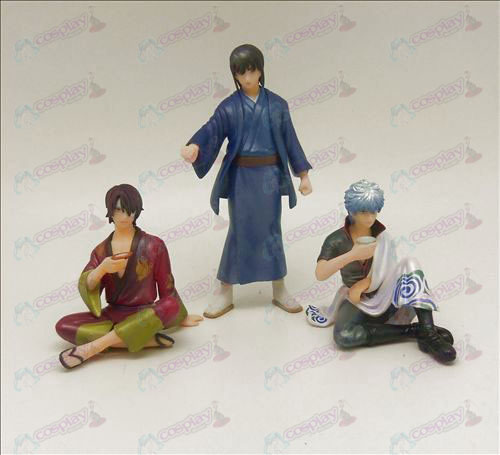 Genuine 3 Gin Tama Accessories Doll