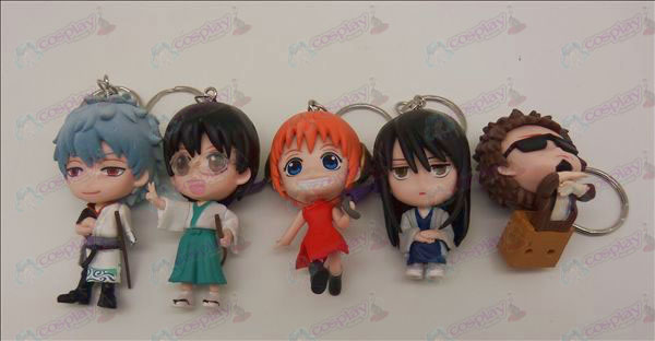 5 models Gin Tama Accessories Doll Keychain