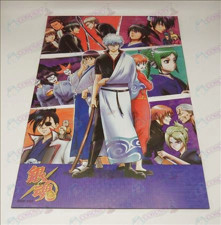 42 * 29Gin Tama Accessories embossed posters (8 / set)
