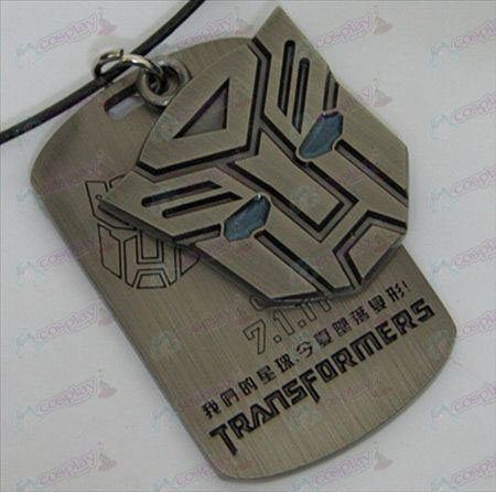 Transformers Accessories Autobots double tag necklace - blue oil - Gun Color