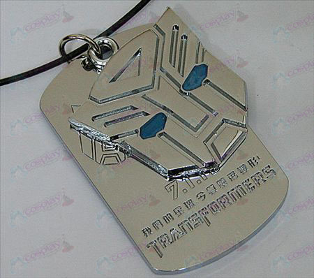 Transformers Accessories Autobots double tag necklace - blue oil - white
