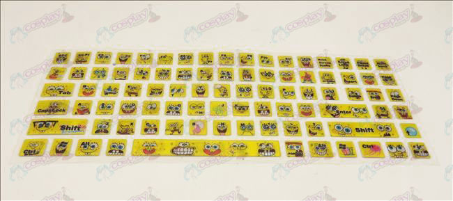PVCSpongeBob SquarePants Accessories keyboard stickers