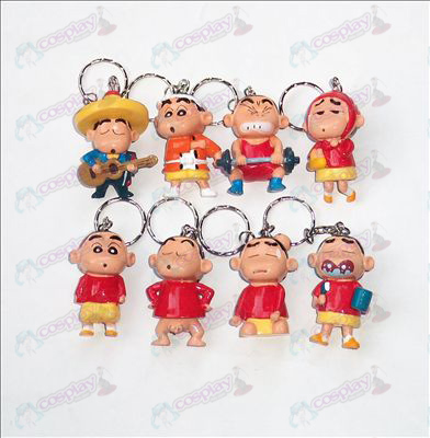 Eight Crayon Shin-chan Accessories doll keychain