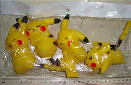 4 models Pikachu (body 11CM, tail 7CM)