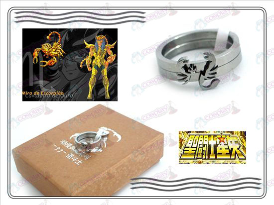 Saint Seiya Accessories scorpion stainless steel couple rings Seiya