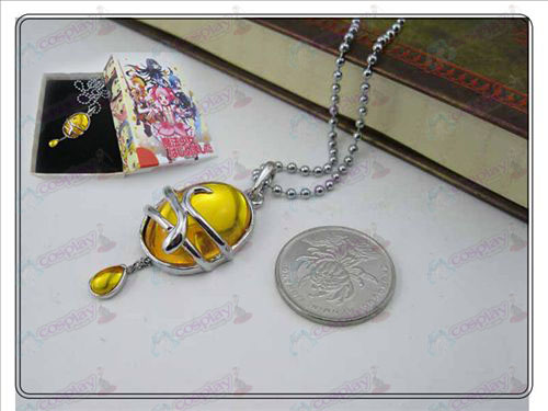 Magical Girl Accessories drop necklace (yellow) boxed