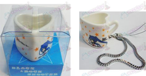 Lack Rock Shooter Accessories Strap heart-shaped ceramic cup