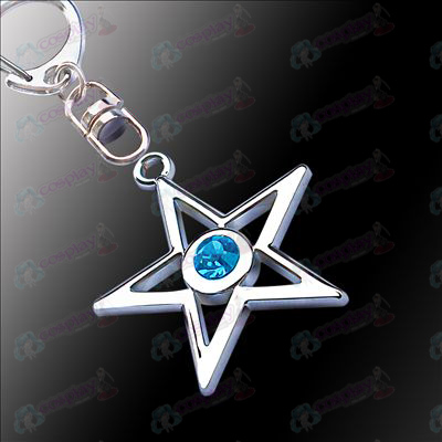 Lack Rock Shooter Accessories pentacle hanging buckle (blue)