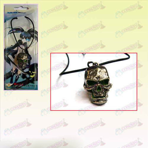 Lack Rock Shooter AccessoriesBleach Accessories Skull leather cord necklace