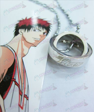 Sunspot basketball double ring necklace