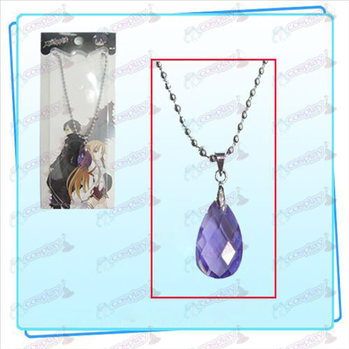Sword Art Online Accessories Kazuto Asuna Yui heart necklace (purple