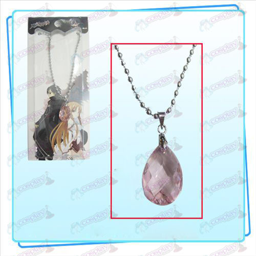 Sword Art Online Accessories Kazuto Asuna Yui heart necklace (pink