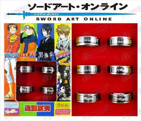 Sword Art Online Accessories black steel rotating ring (6 / set)