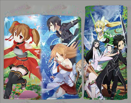 QB2210Sword Art Online Accessories fold color wallet
