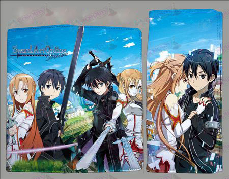QB2209Sword Art Online Accessories fold color wallet