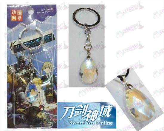 Sword Art Online Accessories Yui White Crystal Heart Keychain