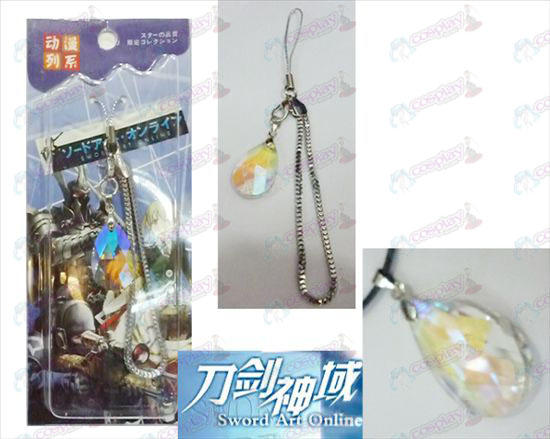 Sword Art Online Accessories Yui Heart White Crystal Strap