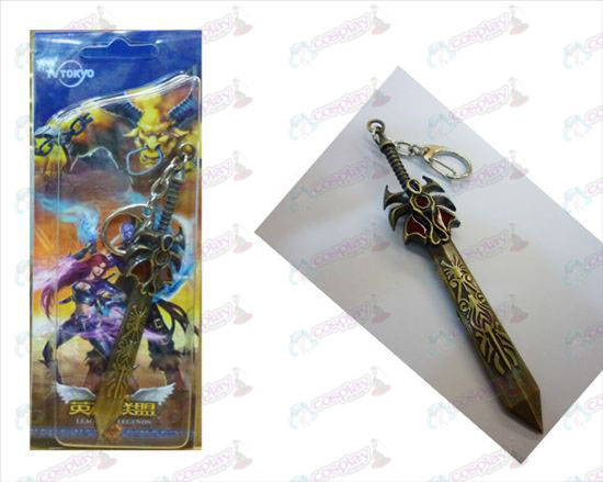 League of Legends Accessories power of Dema West Bronze buckle knife