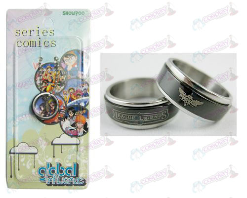 League of Legends Accessories Black Steel Ring transporter