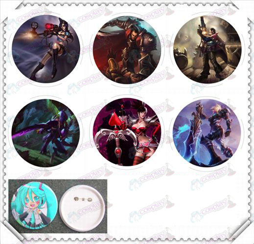 6 mounted 75MM light film badge-League of Legends Accessories People