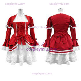 Red Lolita Cosplay Costume