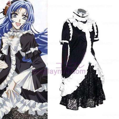 Princess Princess Black Dress Lolita Cosplay Costume