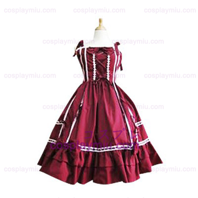 Bow Decoration Crocheted Lace Trimmed Lolita Cosplay Dress