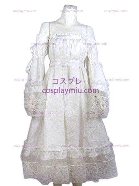 white cheap Lolita cosplay costume