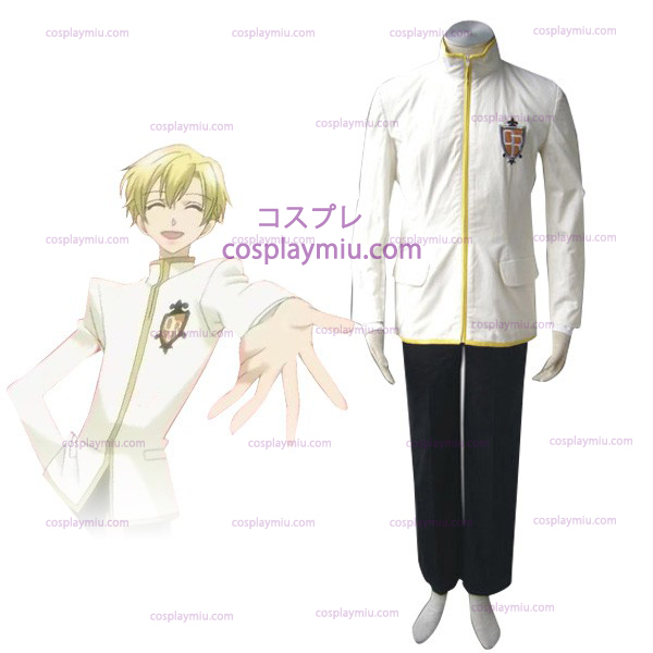 White Ouran High School Host Club Boy Uniform Cosplay Costume