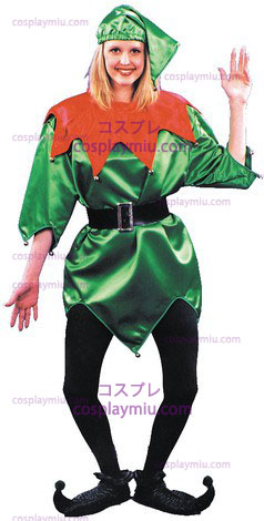 Elf Costume,Green W/Bells,1 S