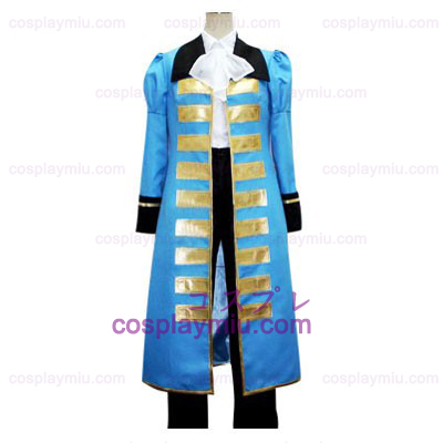 Hetalia: Axis Powers Blue France Cosplay Costume