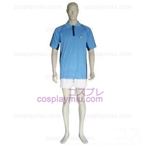 The Prince Of Tennis Jyousei Shounan Light Blue and White Cosplay Costume