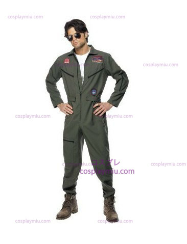 Top Gun Costume with Green Jumpsuit