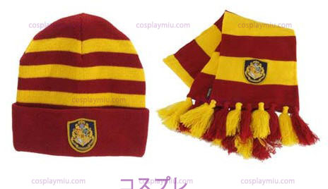 Harry Potter Hogwart's Knit Hat And Scarf Set