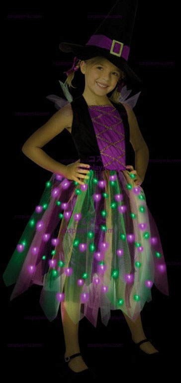 Light Up Rainbow Witch Child Costume
