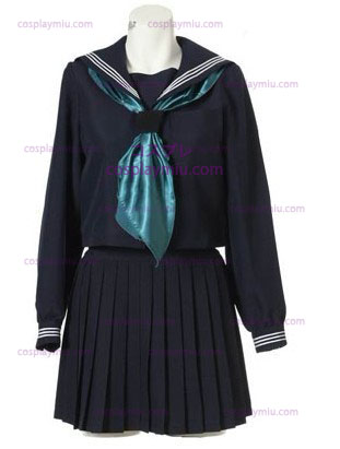 Long Sleeves Sailor School Uniform Cosplay Costume