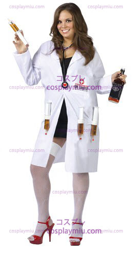 Sexy Dr. Shots Plus Size Costume