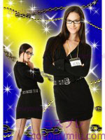 Secret Wishes Officer Frisky Front Zipped Lady Police Costume