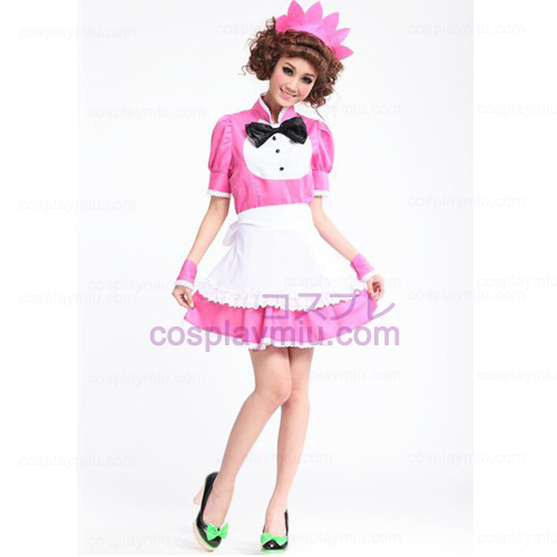 Lolita Cosplay costume/Peach Pink Barbie Doll Maid Costumes