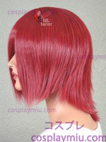 "14"" Dark Red Layered Cosplay Wig"