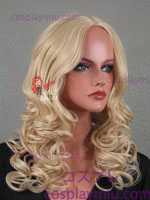 "20"" Natural Blonde Curly Midpart Cosplay Wig"