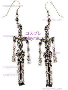 Earrings Metal Skeleton