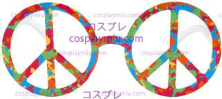 Glasses Peace Sign Psychedelic