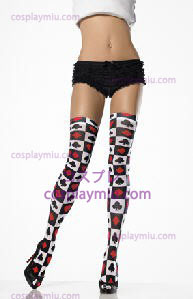 Thigh High Black Red White Cards