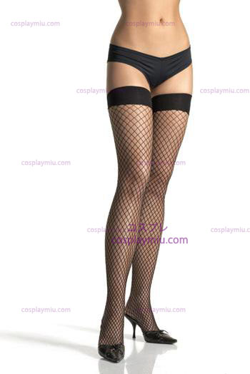 Lycra Industral Fishnet Thigh Hi