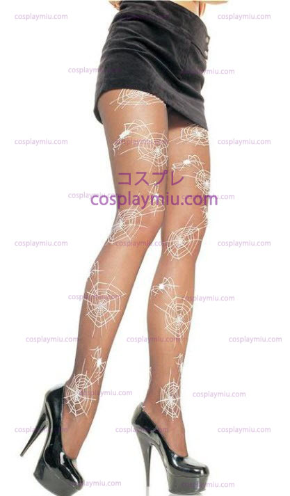 Glow in the Dark Spider Pantyhose