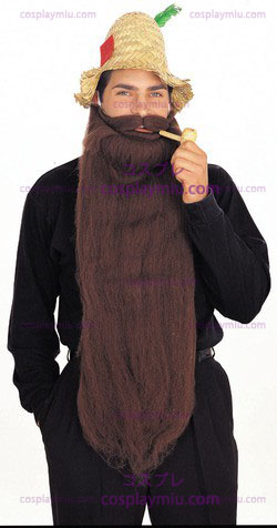 "Mohair 25"" Brown Beard"