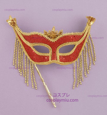 Venetian Mask Stick Red